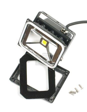 Broken LED lighting equipment isolated