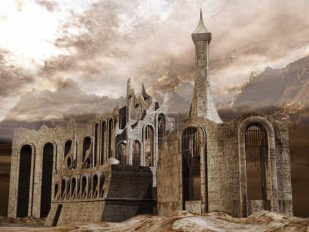 Ruined ancient city in the mountains...