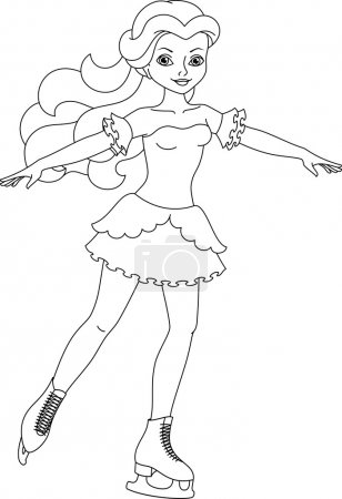 Figure skater coloring page