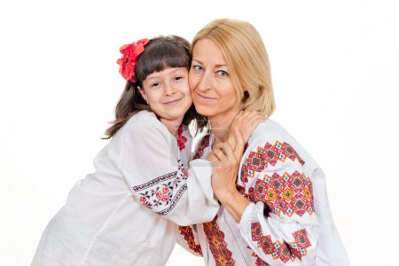 Mother and daughter in the Ukrainian national costume