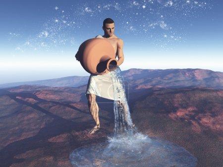 Symbolic representation of the sign of Aquarius
