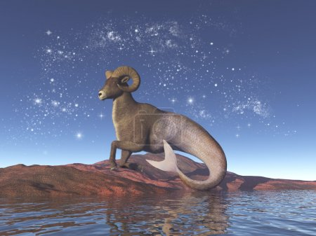 Symbolic representation of the sign of Capricorn