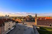 Top view of the old town in Warsaw.