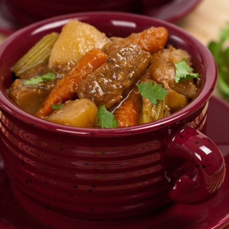 Photo for Homemade Slow Cooker Beef Stew. Selective focus. - Royalty Free Image