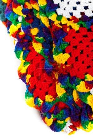 Granny squares of crochet. Homemade.