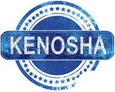 kenosha grunge blue stamp. Isolated on white.