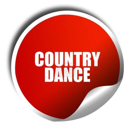 Photo pour Danse Country, rendu 3d, autocollant rouge texte blanc - image libre de droit