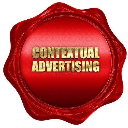 Photo pour Publicité contextuelle, rendu 3D, sceau de cire rouge - image libre de droit