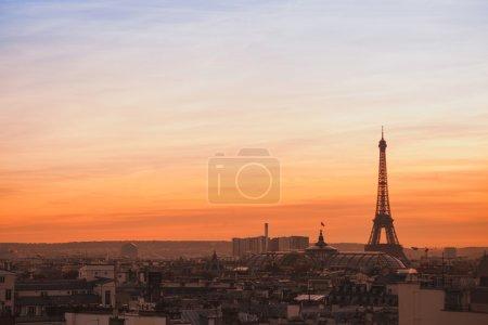 beautiful skyline of Paris