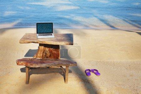 office on paradise beach