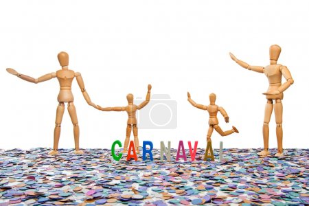 Photo for Dummy Brazilian Carnaval Party on white background - Royalty Free Image