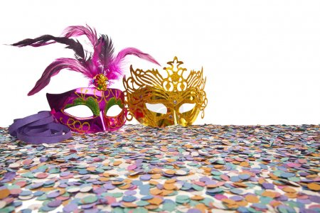 Photo for Carnival Party Props on white background - Royalty Free Image