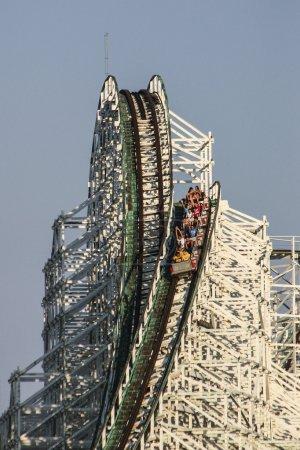 roller coaster cart going down