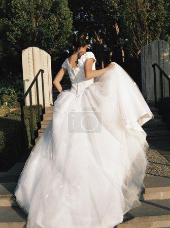 Rear view of a bride