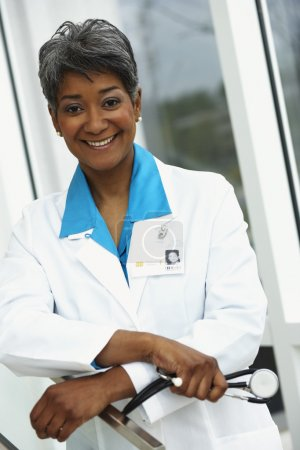 Female doctor smiling at camera