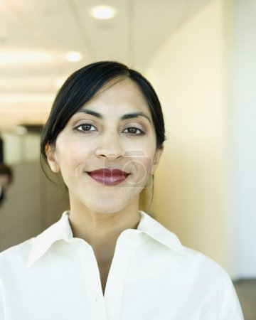 Indian businesswoman smiling