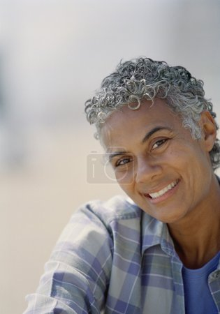 Portrait of senior African American woman