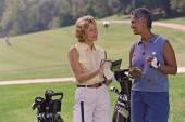 Multi-ethnic senior women on golf course