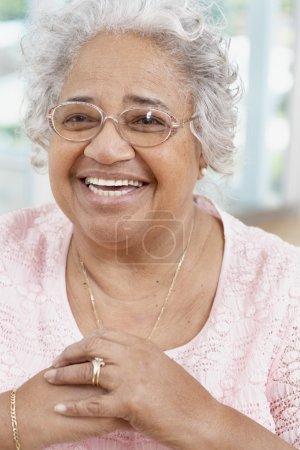 Senior African American woman