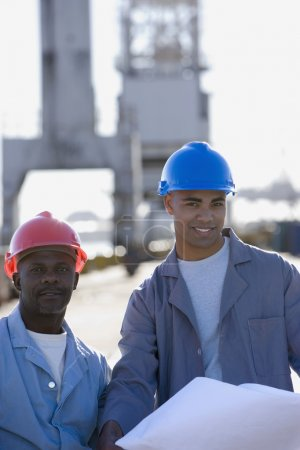 African American male construction workers