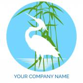 Conservation company logo design with heron