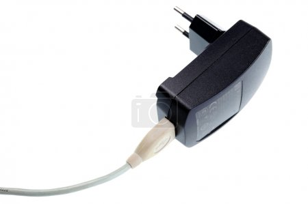 Black ACDC power supply adapter