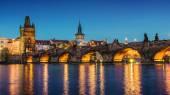 Prague at dusk; Czech Republic