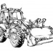 Постер, плакат: Loader illustration drawing art
