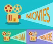 Cinema retro projector Vector