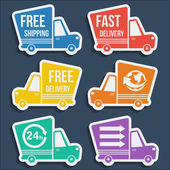 Free delivery fast delivery icons set Vector