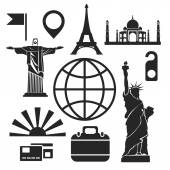 Travel web and mobile icons Vector