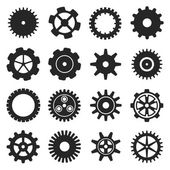 Gears shapes vector set