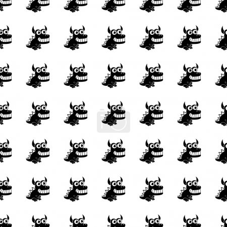 Dragon seamless pattern. Vector