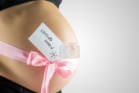 Young woman in the last stages of pregnancy