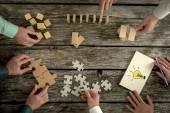 Konzept der Teamarbeit, Strategie, Vision oder Bildung