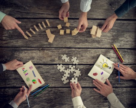 Businesspeople organizing business strategy