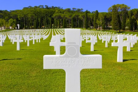 WWII Unknown American Soldier Grave, Italy