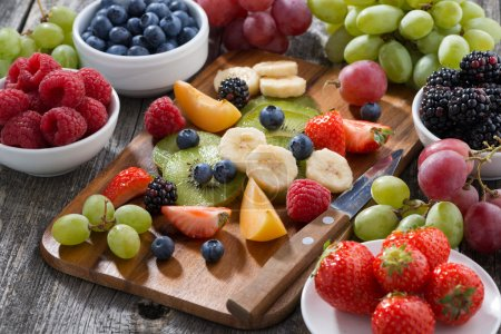 Photo for Ingredients for fruit salad, horizontal - Royalty Free Image