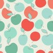 Seamless pattern with apples...