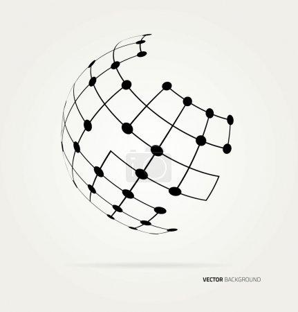 Illustration pour Image abstraite des lignes d'un globe. Vector - image libre de droit