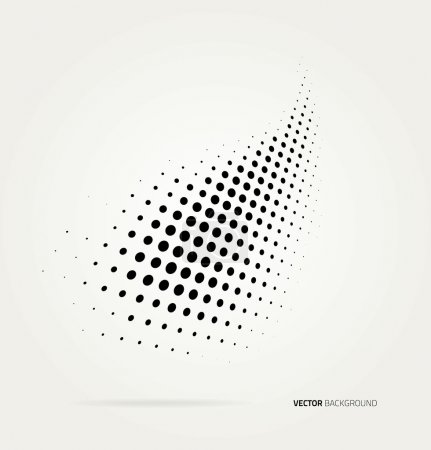 Illustration for Vector halftone dots abstract background. Design template - Royalty Free Image