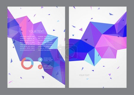 Illustration for Abstract triangles Vector Brochure Template. illustration design - Royalty Free Image