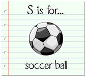 Flashcard letter S is for soccer ball illustration