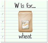 Kartičky písmeno W je pšenice