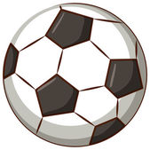Football ball on white background illustration
