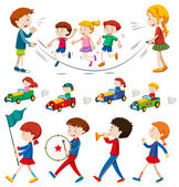 Children in the band and doing other activities