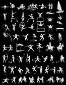 Sport icons for many sports illustration