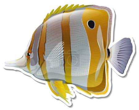 Lágrima mariposa mar animal etiqueta engomada ilustración