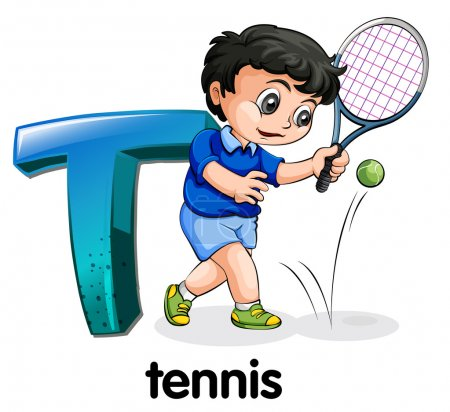 A letter T for tennis