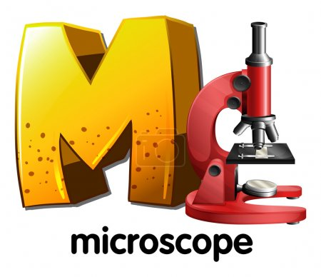 A letter M for microscope